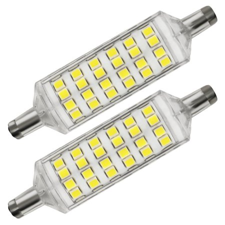 2 pack 5w r7s led bulb 78mm 72pcs chips 60w j type double end tungsten halogen replacement. Black Bedroom Furniture Sets. Home Design Ideas