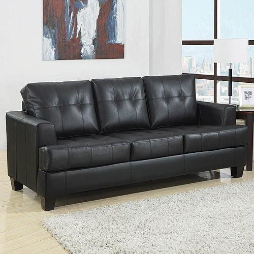 Coaster Samuel Bonded Leather Sofa Sleeper, Multiple Colors