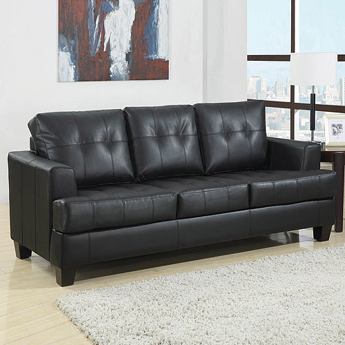 Charming Coaster Samuel Bonded Leather Sofa Sleeper, Multiple Colors