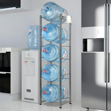 UBesGoo 5-Tier Water Bottle Storage Rack Heavy Duty Water Bottle Cabby Rack (Bff Water Bottles)