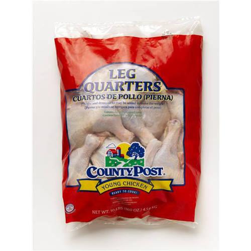 County Post Fresh Chicken Leg Quarters, 10lbs.
