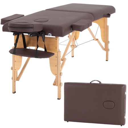 "Massage Table Massage Bed Spa Bed 73"" Long Portable 2 Folding W/ Carry Case Table Heigh Adjustable Salon Bed Face Cradle (Best Face Cradle For Massage Table)"