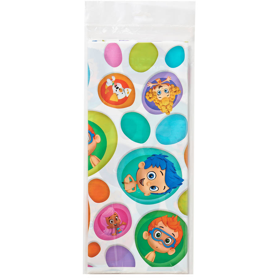 Bubble Guppies Plastic Table Cover, 54 in. x 96 in., Party Supplies