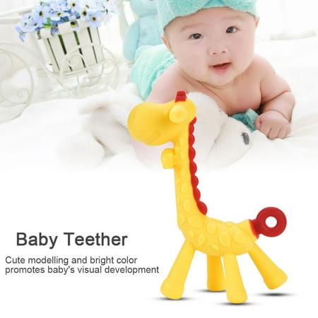 Giraffe Baby Toy - Aramox Healthy Food Grade Silicone Baby Teether Giraffe Modelling Infant Teething Chew Toys , Baby Teething Chew Toys, Silicone Baby Teether