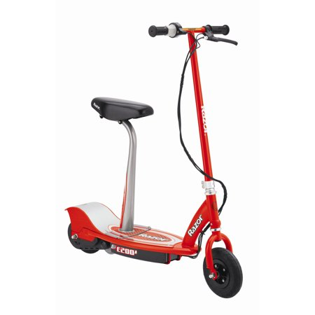 Adult Razor Scooter - Razor E200S Seated Electric Motorized Scooter - Red