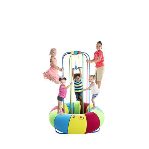 Jungle JumpaRoo - Trampoline/Bounce House-like Play Set - Indoor/Outdoor Jungle Gym
