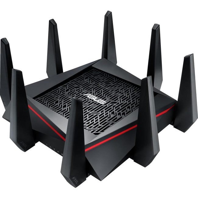 Asus RT-AC5300 IEEE 802.11ac Ethernet Wireless Router - 2.40 GHz ISM Band - 5 GHz UNII Band - 8 x Antenna(8 x External) - 5334 Mbit/s Wireless Speed - 4 x Network Port - 1 x Broadband Port - USB - Gig