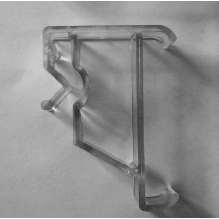 4 pcs Clear Valance Clips for Window Blinds ()
