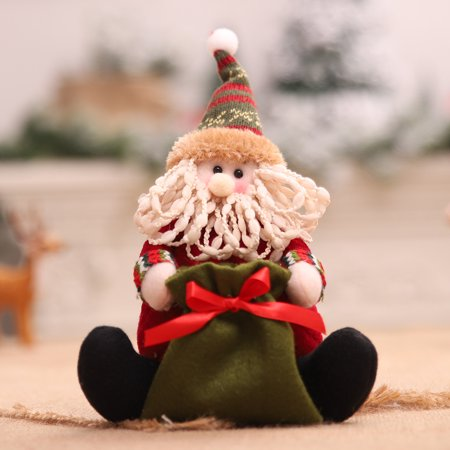 Christmas Doll Portable Apple Bag Children's Candy Bag Santa Claus Gift Bag](Children's Gift Bags)