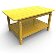 Coffee Table by Malibu Outdoor, Yellow - 22'' x 36''