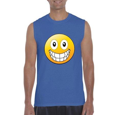 Big Smile Emoji   Mens Sleeveless Shirts