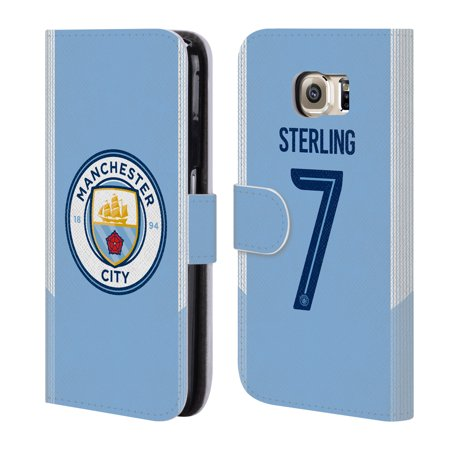 OFFICIAL MANCHESTER CITY MAN CITY FC 2017/18 PLAYERS HOME KIT 1 LEATHER BOOK WALLET CASE COVER FOR SAMSUNG PHONES 1
