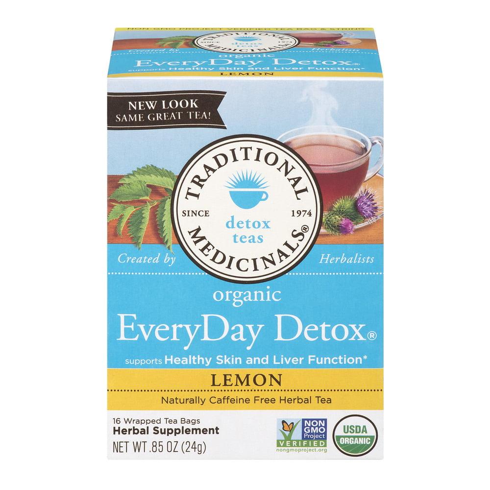 Traditional Medicinals Everyday Detox Tea Bags, Lemon, 16 Ct