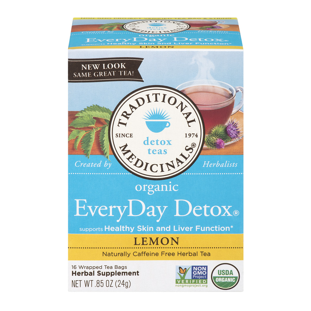 Traditional Medicinals Everyday Detox Tea Bags, Lemon, 16 Ct