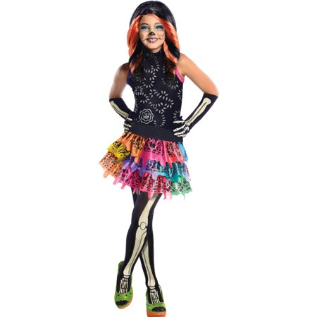 Skelita Monster High (Morris Costumes Girls Monster High Skelita Calaveras Child Large, Style)