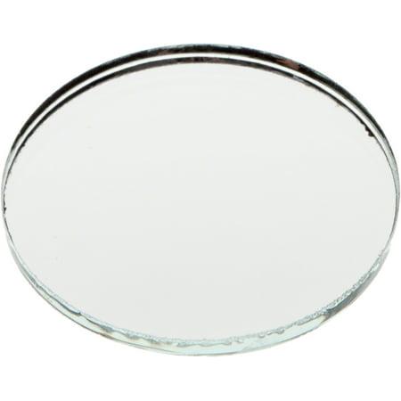 Non Breakable Mirror (Plymor Round 3mm Non-Beveled Glass Mirror, 1.5 inch x 1.5)