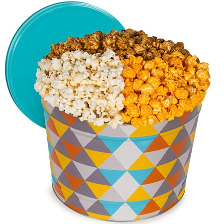 1 Gallon Popcorn Tin - Artisan Popcorn Tin - Traditional 2 Gallon