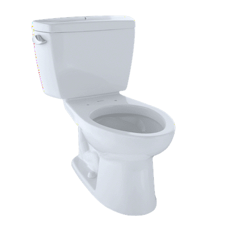TOTO® Drake® Two-Piece Elongated 1.6 GPF Toilet with Insulated Tank and Bolt Down Tank Lid, Cotton White - - 01 Cotton Tank Lid