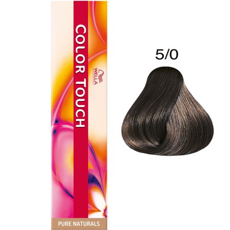 Wella Color Touch Pure Naturals Hair Color - Color : 5/0 - Light Brown/  Natural