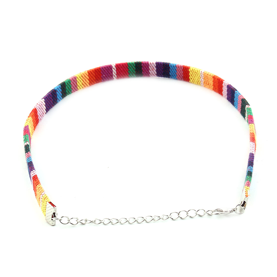Ethnic Style Adjustable Fabric Embrodered Clavicle Necklace Collar Choker # 4 - image 3 of 4