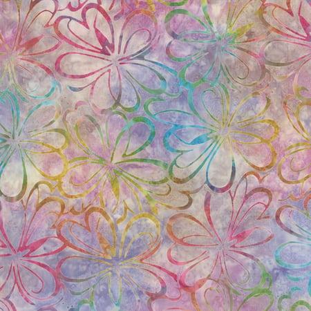 Fabric Graphics (Wilmington Batiks Sonic Bloom Multi Graphic Floral)