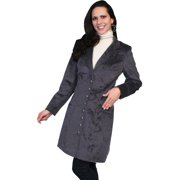 Scully Western Coat Womens Velvet Embossed Frock Buttons 8 Plum 717199