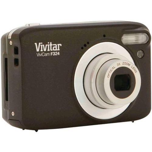 Vivitar Black VF324-BLACK Digital Camera with 14.1 Megapixels and 3x Optical Zoom