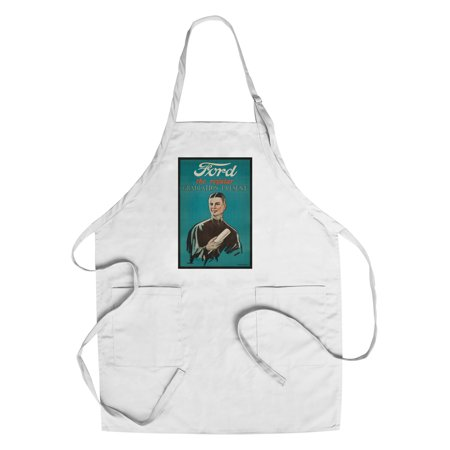 Ford - The Regular Graduation Present Vintage Poster (artist: Butler) USA c. 1923 (Cotton/Polyester Chef's Apron) (Graduation Present)
