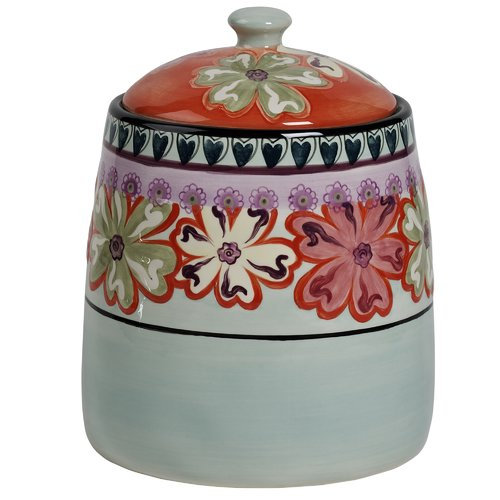 Kathy Davis Hearts and Flowers 164-Ounce Cookie Jar