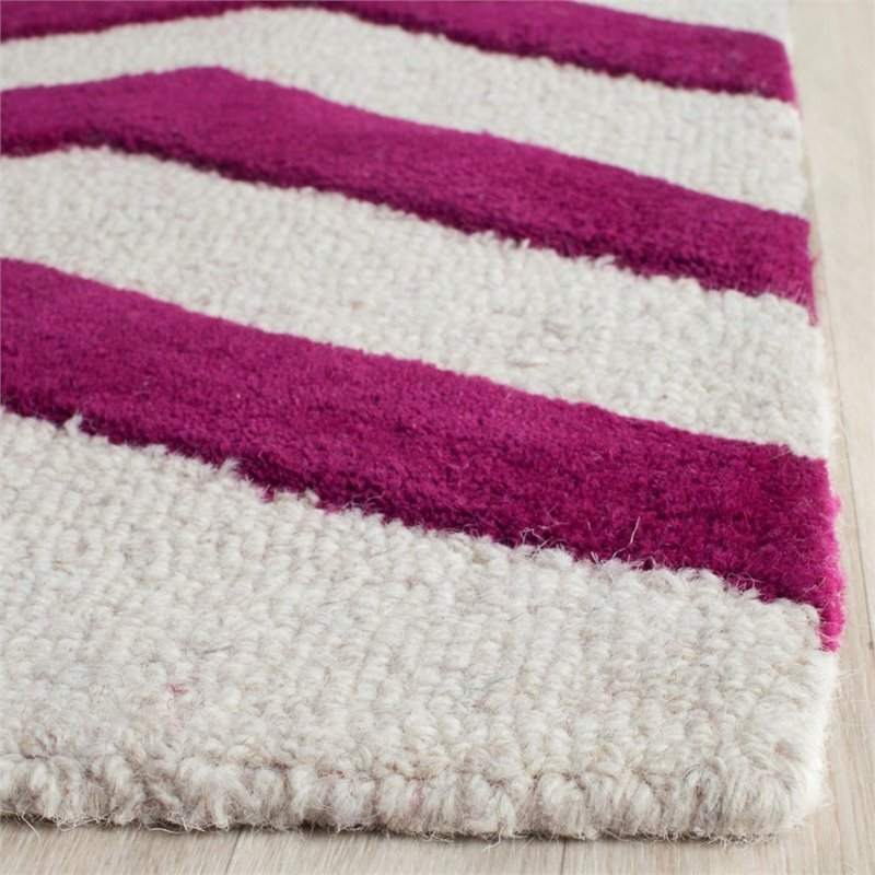 Safavieh Cambridge 8' X 10' Hand Tufted Wool Rug in Ivory and Fuchsia - image 3 of 10