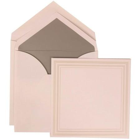 Jam Paper Wedding Invitation Set Medium Square 6 1 4 X