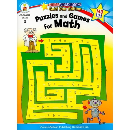 Puzzles and Games for Math, Grade 3 - Halloween Math Multiplication Games