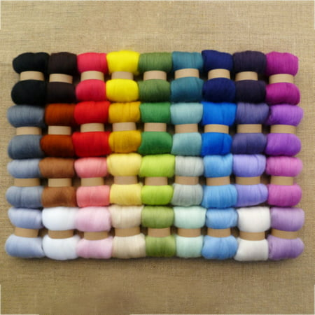 36 Colors Pure Wool Roving Needle Felting Sewing DIY