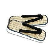 Straw Zori Sandals - XSmall