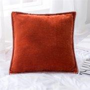 18''x18'' Chenille Decorative Throw Pillow Case Cushion Cover Protector