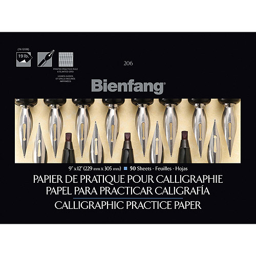 "Bienfang Calligraphic Practice Paper Pad 9""X12""-50 Sheets"