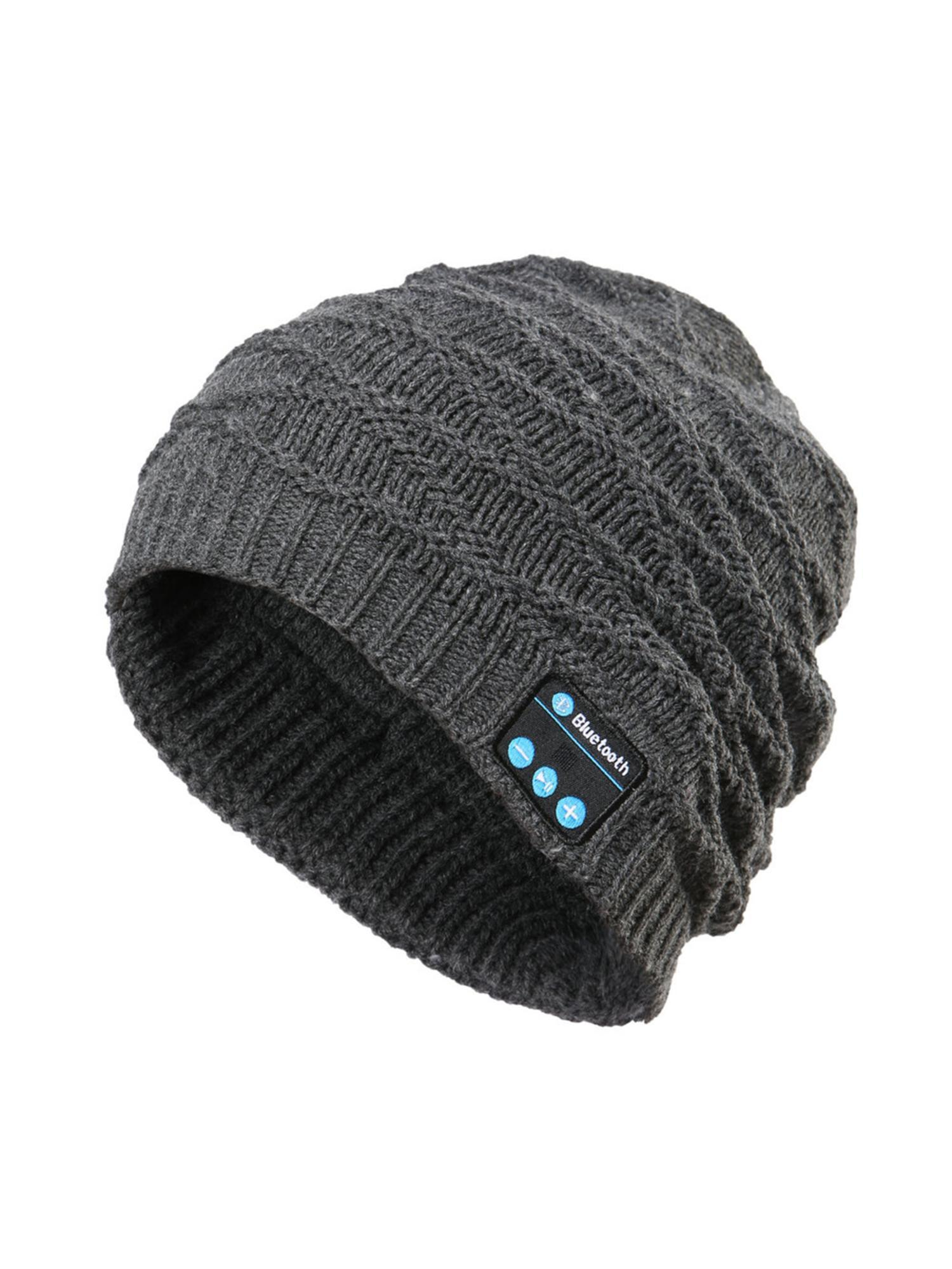Unisex Soft Warm Bluetooth Music Hat Knitted Hat With Bluetooth ... b3473b551ef