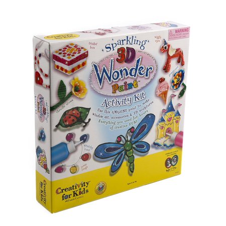 - Sparkling 3D Paint Activity Kit, Create beautiful, glittery window art, 3-D creations and more with this special sparkle paint. By Creativity for Kids Ship from US