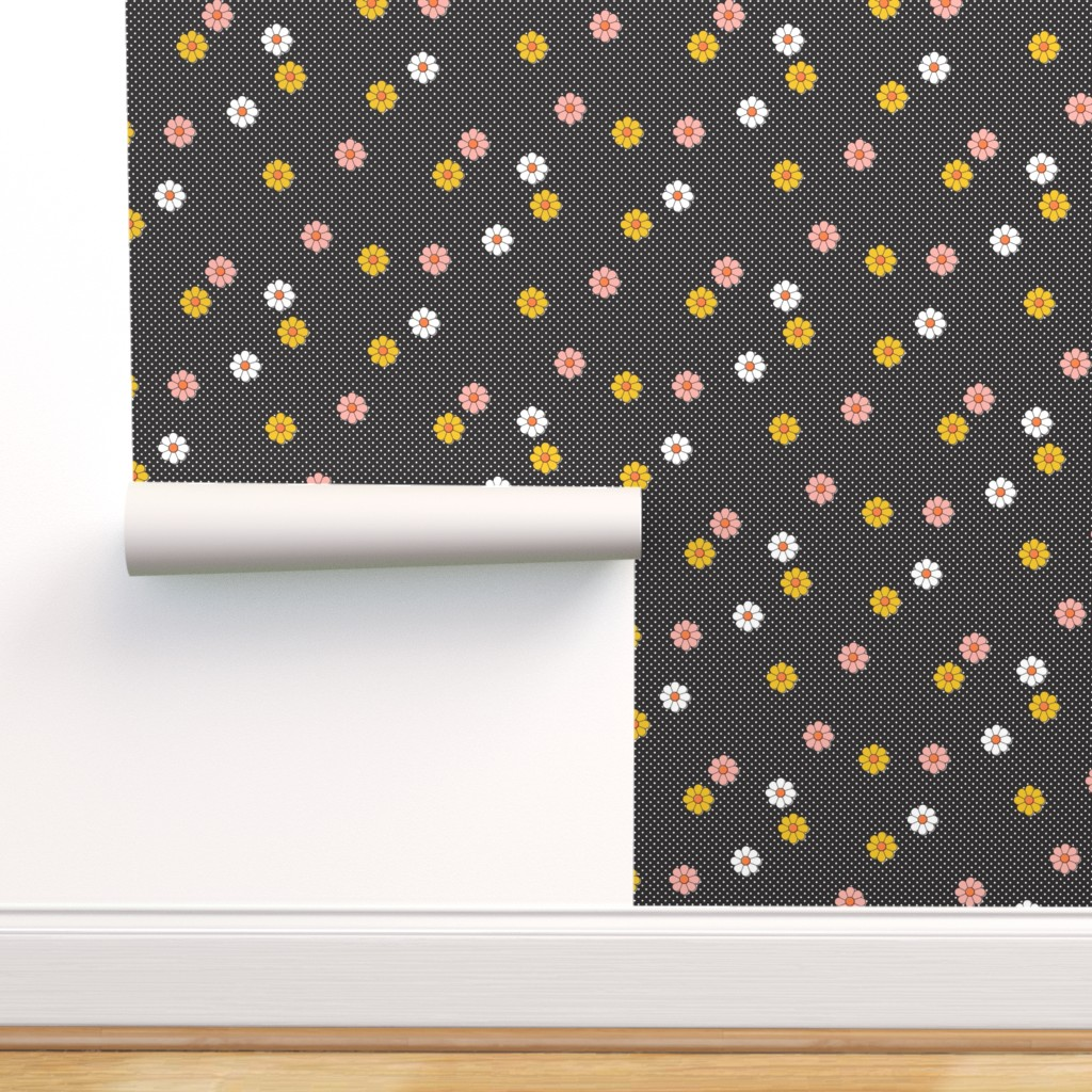 Peel And Stick Removable Wallpaper 70s Flowers Floral Retro