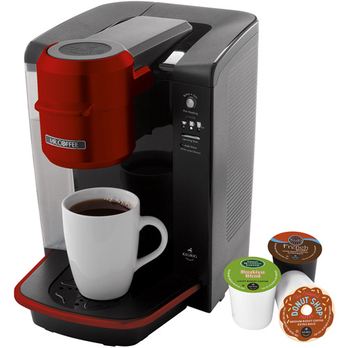 Mr. Coffee Single Serve Coffee Brewer Powered by Keurig Brewing Technology, Black
