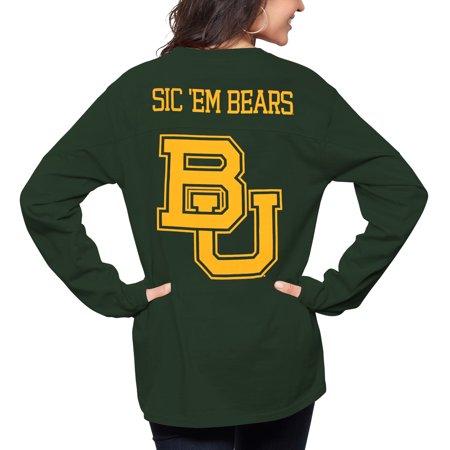Baylor Bear Green (Baylor Bears Pressbox Women's The Big Shirt Oversized Long Sleeve T-Shirt - Green )