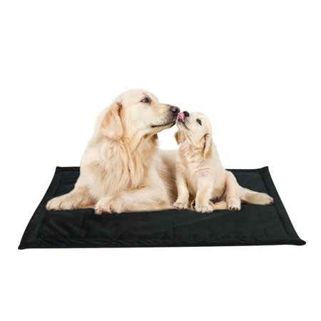 Black / Gray / Red / Navy Blue Dog Bed for Small Dogs / Cats, Square Kennel Mat Pets Cushion for Puppy Pet, Dog Bed Large Crate Pad Soft Mat Warm Pad Liner Home Indoor Outdoor
