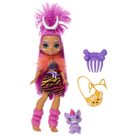 Cave Club Roaralai Doll (10-Inch) Prehistoric Fashion Doll With Dinosaur Pet
