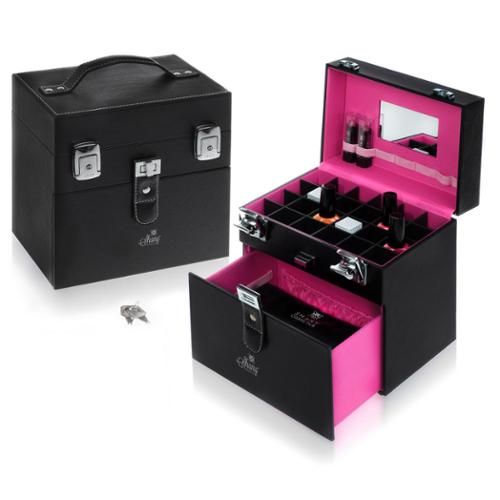 Shany Cosmetics Shany Black/Pink Matters Nail Accessories Organizer Makeup Case
