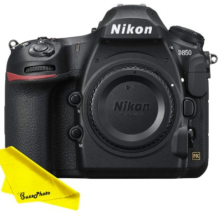 Nikon D850 DSLR Camera (Body Only) with FREE Buzz-Photo Cleaning Cloth