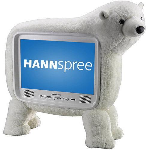 "HANNspree 19"" Class LCD 720p 60Hz HDTV, ST19PMUW, Polar Bear"