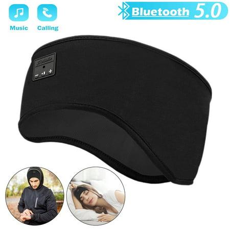 EEEKit Sleep Headphones, Upgrage Soft Bluetooth 5.0 Sleeping Wireless Music Sport Headbands Headset with with Built -in Speakers for Workout, Running, Yoga, Air Travel