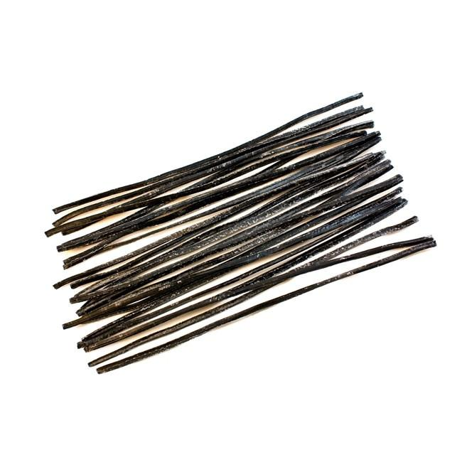 "6"" Set of 24 Pieces of Black Beeswax Strips"