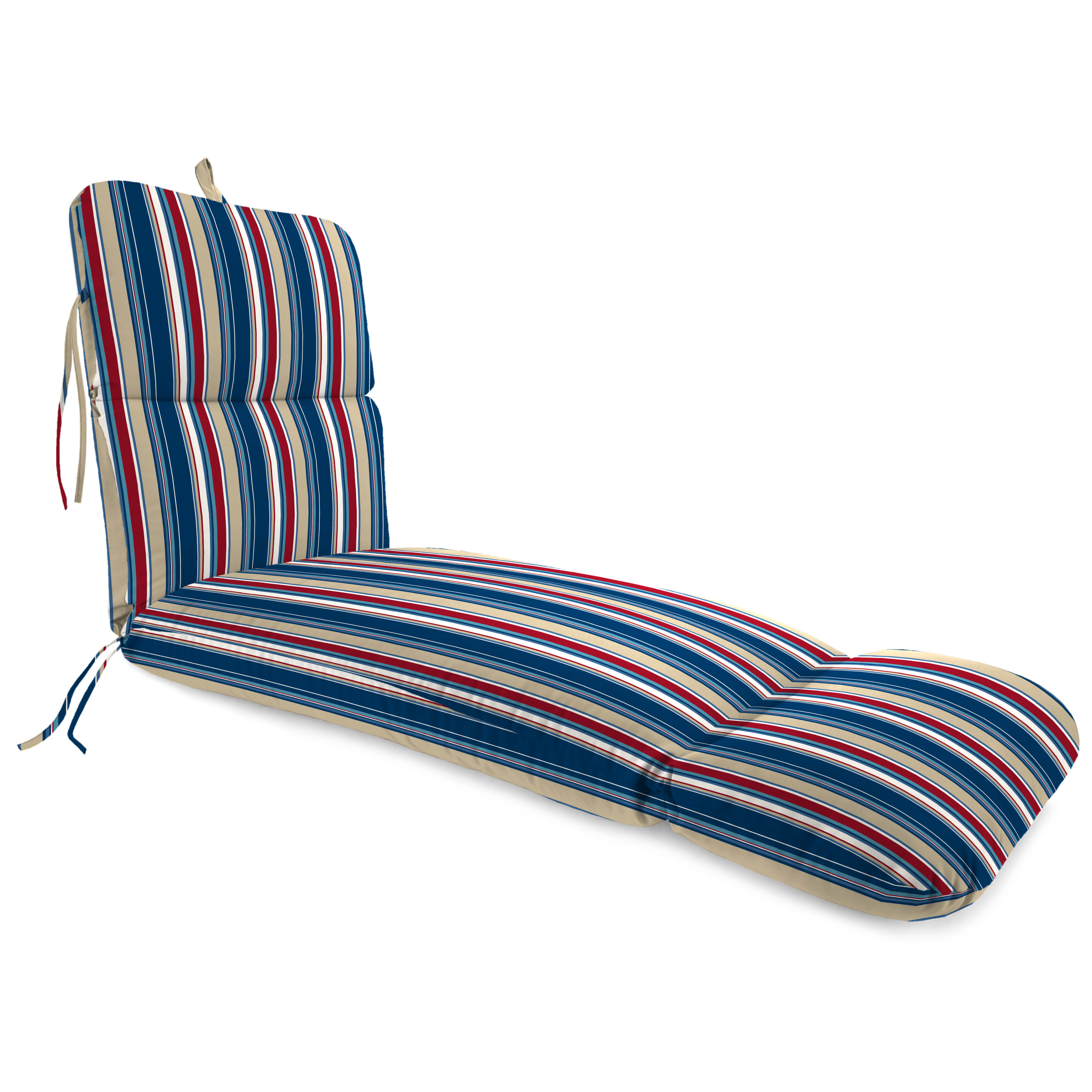 Jordan Manufacturing Outdoor Chaise Lounge Cushion, Covert Stripe Sailor