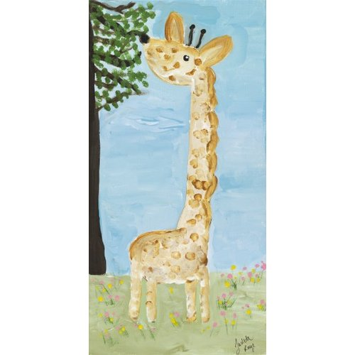 Judith Raye Paintings LLC Baby Giraffe by Judith Raye Painting Print